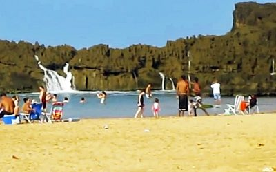 It Looks Like A Normal Beach But It's Not. What Happened at :35 Left Me SPEECHLESS!