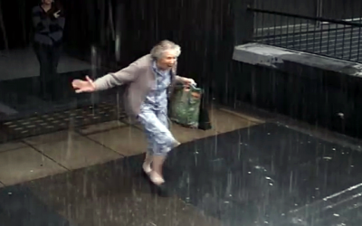 This Grandma Starts Running In The Rain. When I Found Out The Reason I Broke Down