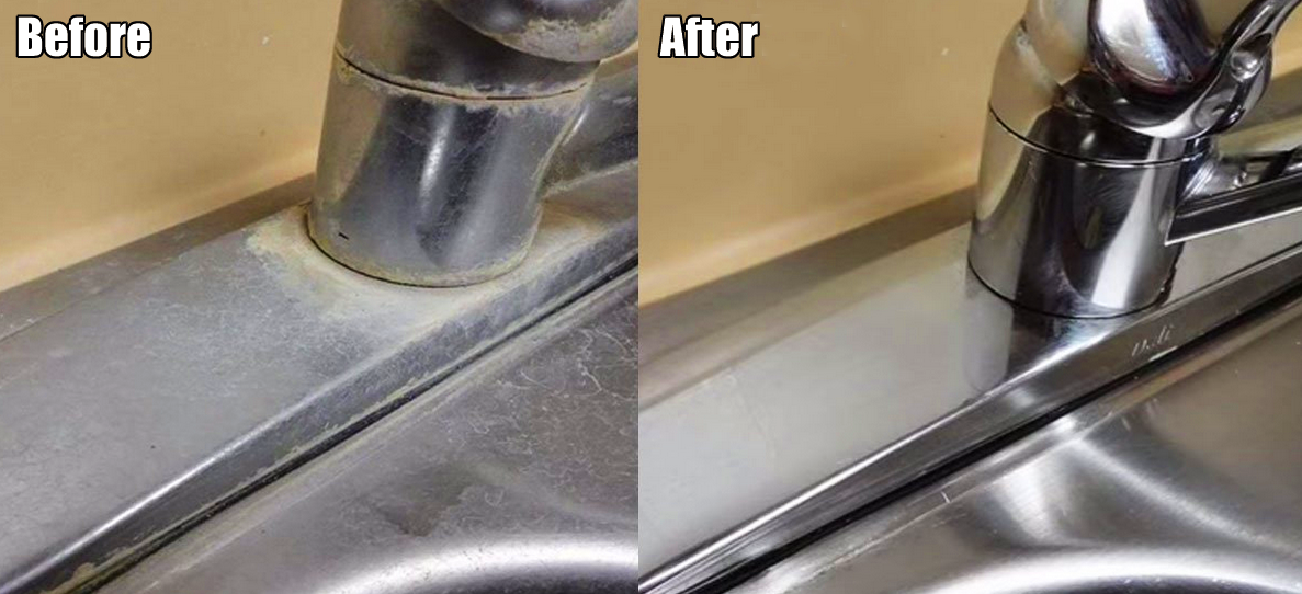 The Simple Way To Remove Hard Water Deposits On Your Faucets And ...