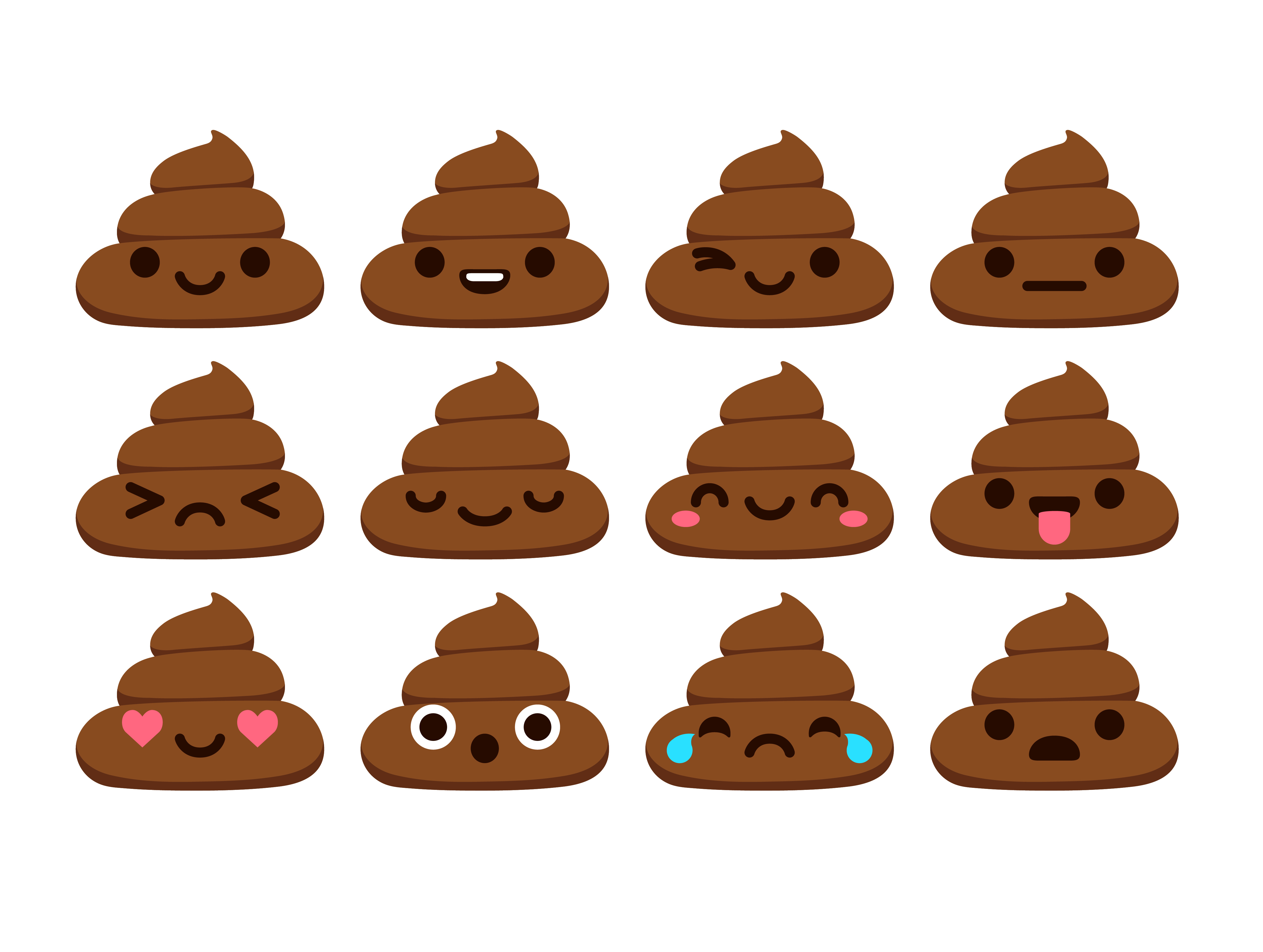Poop emoticons - Icons.