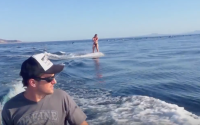 Woman Has A Once In A Lifetime Experience While Wakeboarding!
