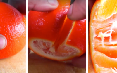 The Quickest and Most Efficient Way To Peel An Orange!