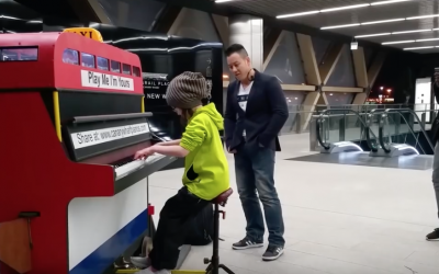 This Little Girl Steps Up To a Public Piano. The Song She Plays With It? Blew Me Away