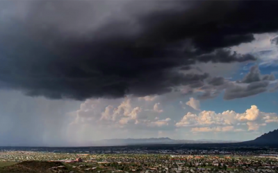 He Starts Filming Dark Clouds Rolling In. But Watch What Happens To The City Below