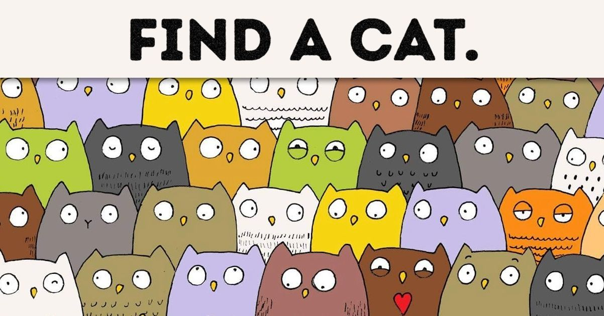 Find Dog In Cat Picture Puzzle