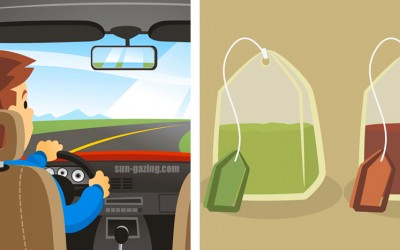 He Scatters Tea Bags All Around His Vehicle. The Reason Why? Awesome!
