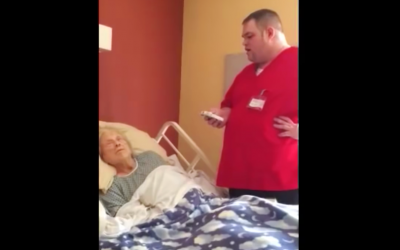 A Hospice Employee Steps Towards This Dying Lady. What The Camera Caught? WOW!