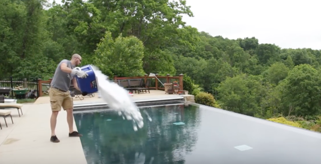 Apparently If You Throw A Bucket Of Dry Ice In A Pool This Happens