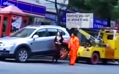 This Lady Is Told Her Car Is Going To Be Towed, She Retaliates With An Epic Response