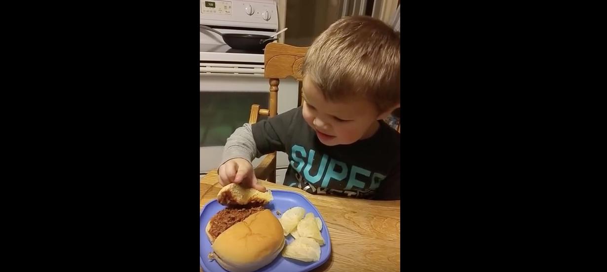 Little Kid Thinks His Sloppy Joe Is Poop