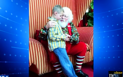 Little Boy With Autism Tells Santa His Darkest Secret. Santa Pulls Him In Close and Says These 5 Words.
