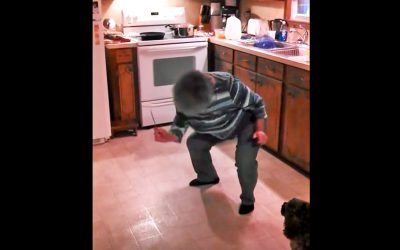 Granny Cooks To The Music While The Kids Secretly Film. She Proceeds To Do The Most Hysterical Moves
