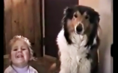 Mom Tells Them To Smile and Say Cheese. Now Watch The Dog Make The Most Hysterical Face.
