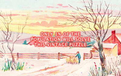 Can You Find All The Hidden Animals In This Vintage Image? Find Out Below.