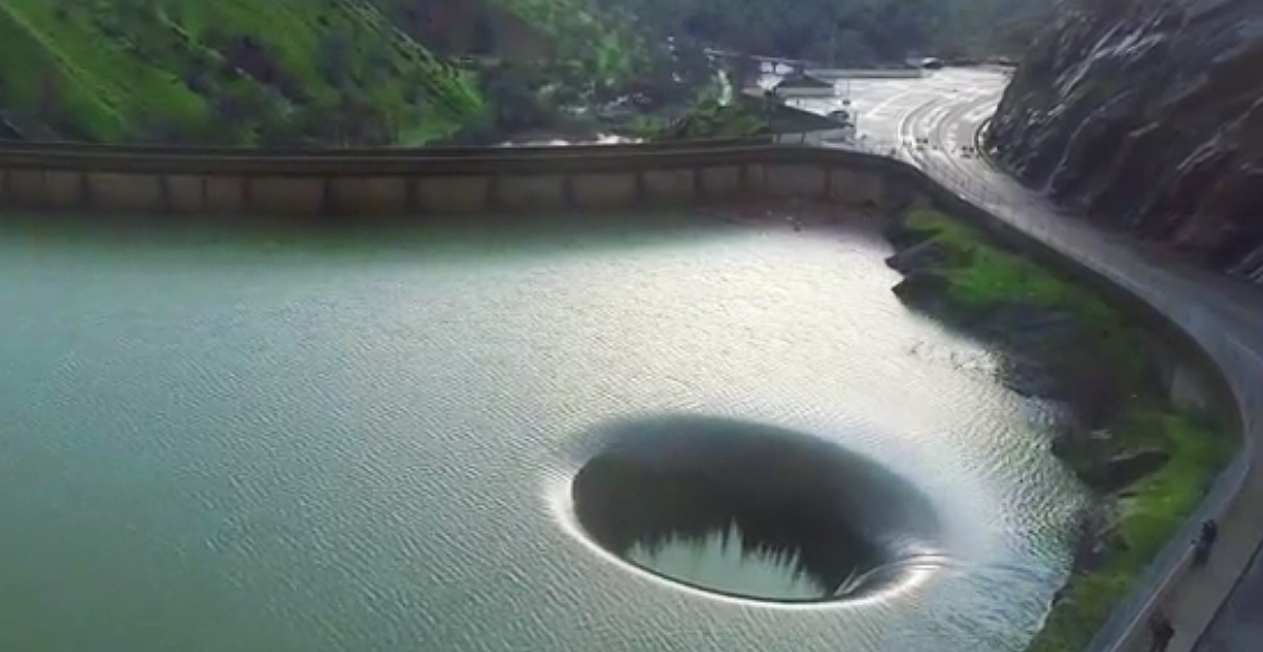 Image result for Man Notices A Strange Hole In This Lake, So He Gets a Drone, Flies It Inside, and Captures This