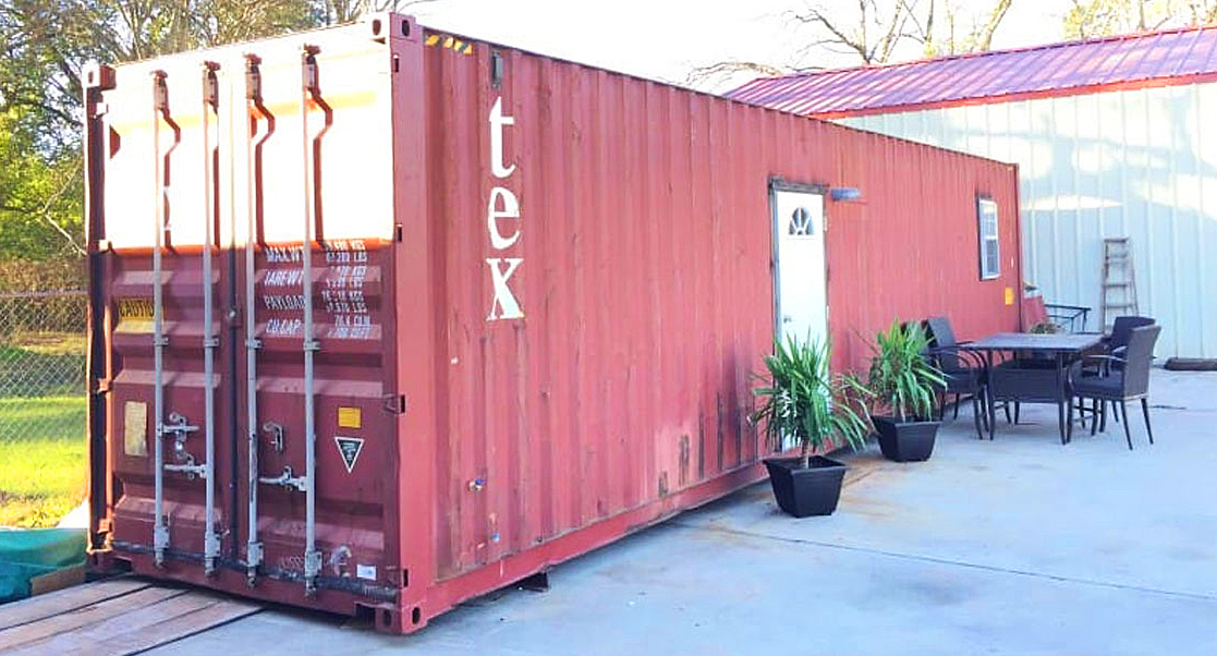 a beautiful red storage container house a new addition to the u0027tiny houseu0027 movement