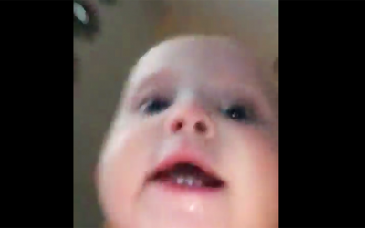 Baby Steals Mama's Phone and Starts Running. Then She Notices The Camera Secretly Recorded It All.