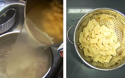 You're Probably Prepping Pasta Wrong. Here's An Awesome Life Hack To Make Pasta Without a Colander.