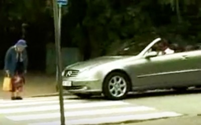Mean Rich Guy Beeps His Horn At Grandma Crossing The Street. But Then She Gets The Best Revenge Ever.