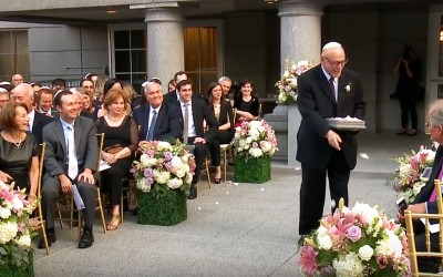 85 Year Old 'Flower Grandpa' Asked To Walk The Aisle, But He Goes Off Script and Everyone Loses It