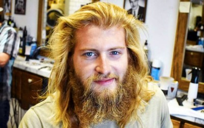 Hairy Man Hasn't Cut His Hair In Years, But Gets Makeover and He Looks So Different Now