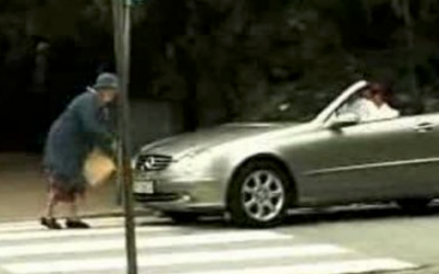 Mean Angry Rich Guy Beeps His Horn At Granny Crossing The Street. But She Gets The Best Revenge Ever.