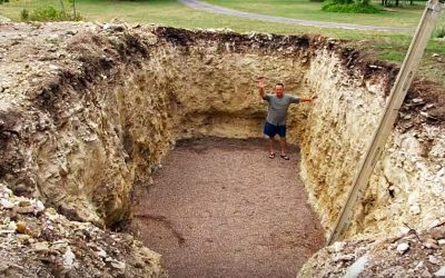 His Neighbors Were Pissed When He Dug This Hole In His Yard. But What He Transforms It Into WOW!