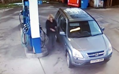 A Hidden Security Camera At The Gas Station Caught A Lady Doing THIS. How Is This Even Possible?