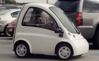 It Looked Like She Was Driving A Normal Car. But Watch What Happens When The Door Opens!