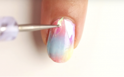 She Starts Sticking 'Shattered Glass' Onto Her Nails. But When She's Done My Jaw Dropped!