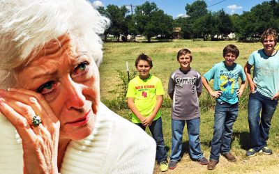 Old Lady Confronts 4 Kids Who Snuck Onto Her Lawn Then Realizes Why and Can't Hold Back The Tears!