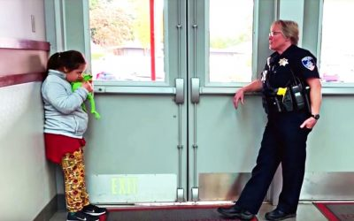 School Officer Spots A Special Needs Girl Frozen In The Hall. She Falls To Her Knees When She Realizes Why!