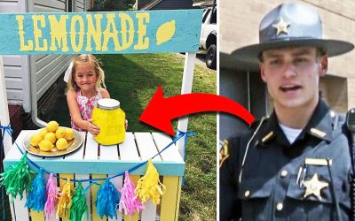 Policeman Buys a Drink At THIS Girl's Lemonade Stand. He Comes Back 1 Day Later With The Most Unexpected Surprise!