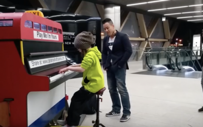 9 Year Old Steps Up To THIS Public Piano. But THIS Song She Plays Leaves Everyone Speechless!