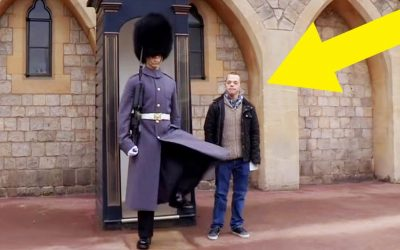 Boy Who Has Down Syndrome Confronts One of The Queens Guards But The Soldiers Response Is Unexpectedly Startling!