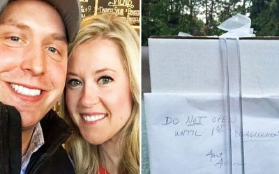 Married Couple Was Told By Her Aunt Not To Open Their Wedding Present. 9 Years Later They Decide To Open It!