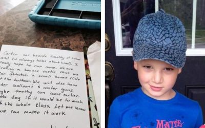 Boy Got Home With An Invitation To a Birthday. But When His Mom Reads It She Can't Hold Back The Tears!
