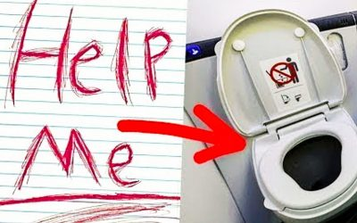 Flight Attendant Notices The Words 'Help Me' Written In The Airplane Bathroom. She Immediately Tells Pilot To Call 911!