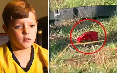 THIS Kid Notices 'Strange Shape' Underneath a Bridge. He Approaches Sees What It Is Then Quickly Breaks Down!